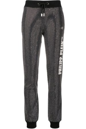 Philipp Plein Glitter-effect slim-fit trousers