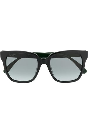 Gucci Square-frame Web-stripe sunglasses