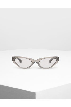 CHARLES & KEITH Acetate Oval Frame Sunglasses