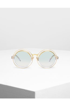 CHARLES & KEITH Thick Frame Round Sunglasses