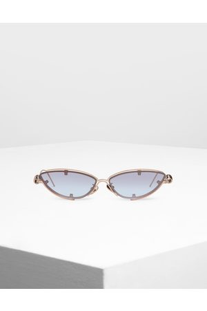 CHARLES & KEITH Double Frame Cat-Eye Sunglasses