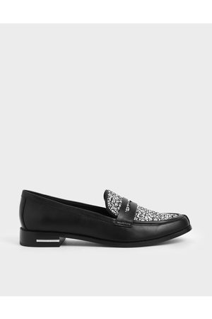 CHARLES & KEITH Classic Tweed Penny Loafers