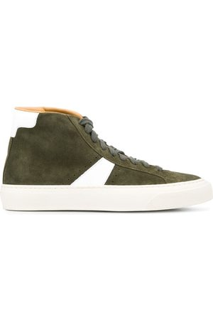 Scarosso Contrast panels high-top sneakers