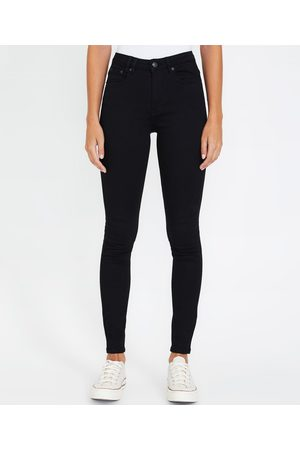 Insight Molly Mid Rise Skinny Jeans Jet