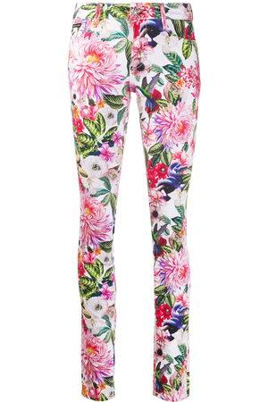 Philipp Plein Floral-print skinny jeans