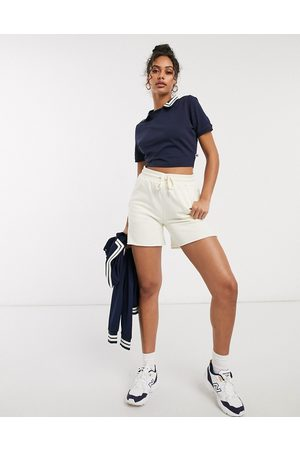 Russell Athletic cropped polo in navy