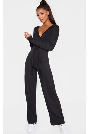 PRETTYLITTLETHING Tie Waist Long Sleeve Jumpsuit