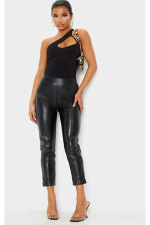 PRETTYLITTLETHING Daysha Cropped Faux Leather Pants