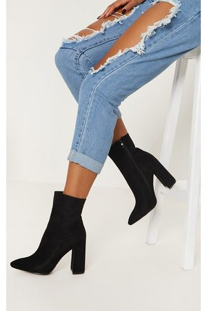 PRETTYLITTLETHING Faux Suede High Point Ankle Boot