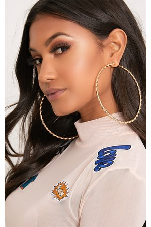 PRETTYLITTLETHING Brynn Big Twisted Metal Hoop Earrings