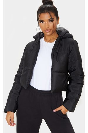 PRETTYLITTLETHING Hooded Cropped Puffer