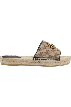 Gucci Women Wedges - Women's GG matelassé canvas espadrille sandal
