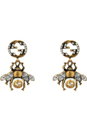 Gucci Bee earrings with Interlocking G