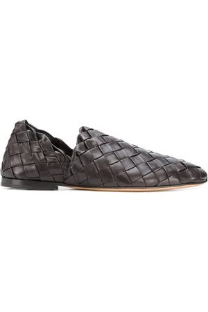 Bottega Veneta Woven leather slip-on loafers