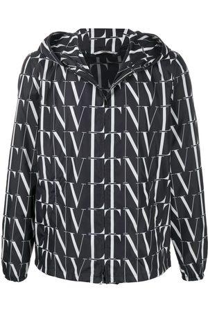 Valentino VLTN print hooded jacket