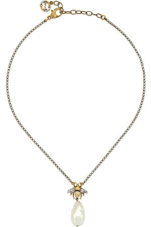 Gucci Necklaces - Bee necklace with pearl