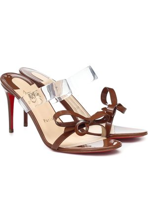 Christian Louboutin Just Nodo 85 PVC and patent-leather sandals