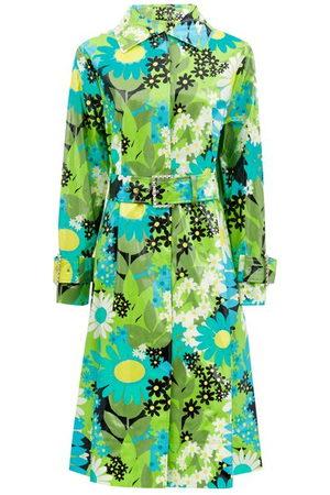 8 MONCLER RICHARD QUINN Charlie Floral Coated Cotton-canvas Raincoat - Womens - Multi