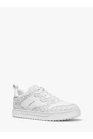 Michael Kors MK Baxter Logo and Leather Sneaker - / - Michael Kors