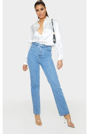 PRETTYLITTLETHING Tall Mid Straight Leg Jeans