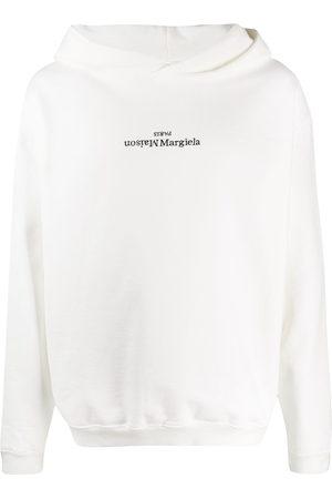 Maison Margiela Men Hoodies - Flipped-logo print hoodie