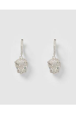 Izoa Panther Huggie Earrings - Jewellery Panther Huggie Earrings
