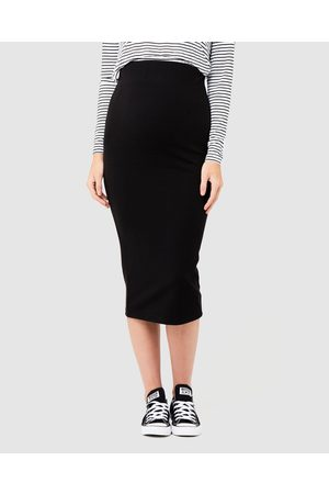 Ripe Maternity Ribbed Knit Pencil Skirt - Skirts Ribbed Knit Pencil Skirt