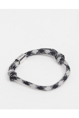 Classics 77 Rope bracelet in black and grey
