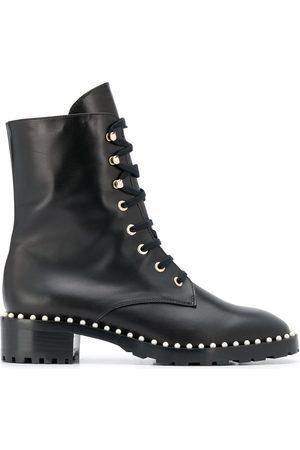 Stuart Weitzman Women Lace-up Boots - Lace-up studded boots