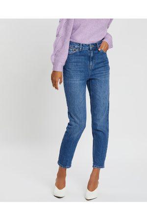 Topshop Mom Jeans - High-Waisted (Indigo) Mom Jeans