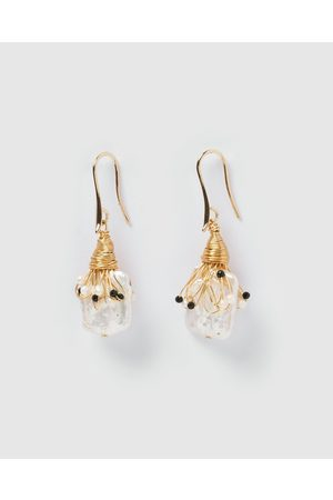 Miz Casa and Co Heiress Pearl Drop Earrings - Jewellery Heiress Pearl Drop Earrings