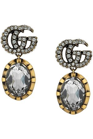 Gucci GG crystal drop earrings