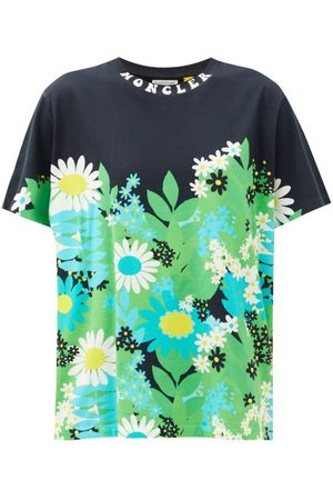 8 MONCLER RICHARD QUINN Floral-print Cotton-jersey T-shirt - Womens - Multi