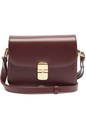 A.P.C Grace Leather Cross-body Bag - Womens - Burgundy