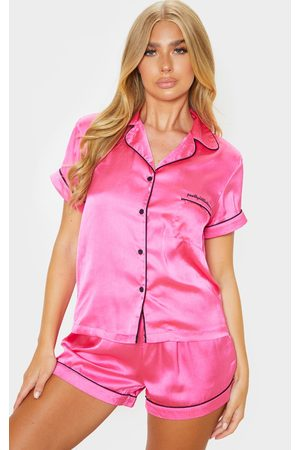 PRETTYLITTLETHING Hot Satin Pocket PJ Set