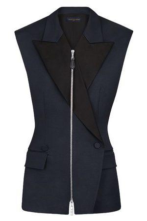 LOUIS VUITTON Sleeveless Zip-Up Blazer