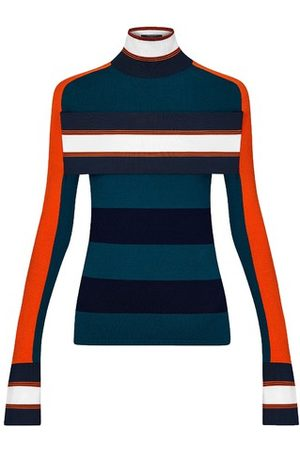 LOUIS VUITTON Women Turtlenecks - Striped Turtle Neck Pullover With Band