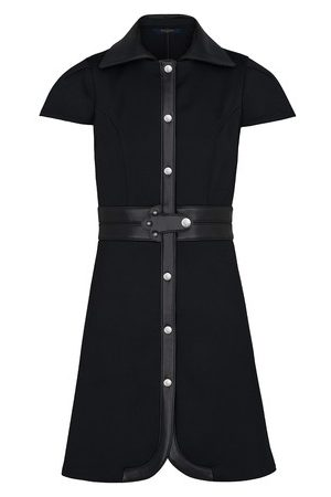 LOUIS VUITTON Women Midi Dresses - Dress With Leather Inserts