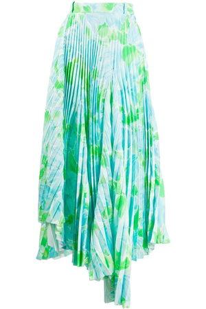 Balenciaga Women Pleated Skirts - Dynasty floral-print pleated skirt