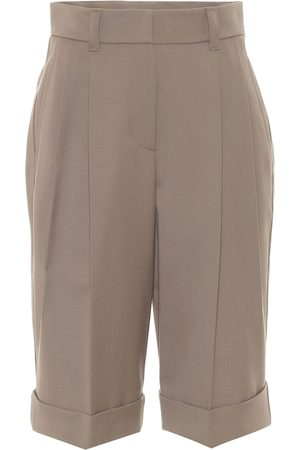 Brunello Cucinelli High-rise wool-twill shorts