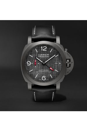 PANERAI Luminor Luna Rossa Challenger Automatic GMT and Flyback Chronograph 44mm Titanium and Leather Watch