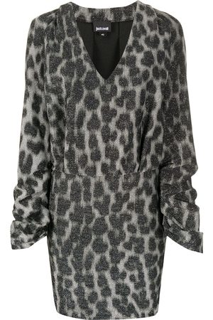 Roberto Cavalli Animal print v-neck dress