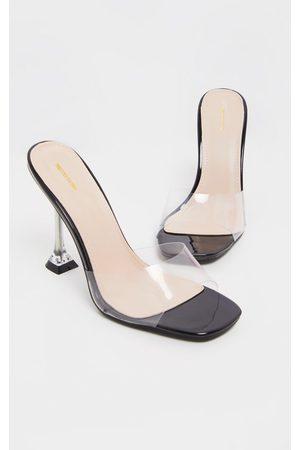 PRETTYLITTLETHING Clear Heel Mule Sandals