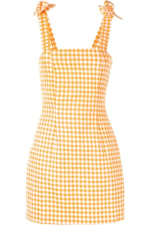 Bambah Gingham bow mini dress