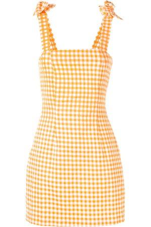 Bambah Women Mini Dresses - Gingham bow mini dress