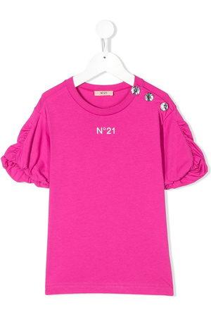Nº21 Ruffle trim T-shirt