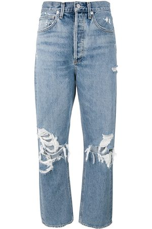 AGOLDE Women Straight - Distressed mom jeans