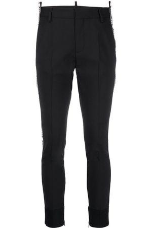 Dsquared2 Logo print slim-fit trousers
