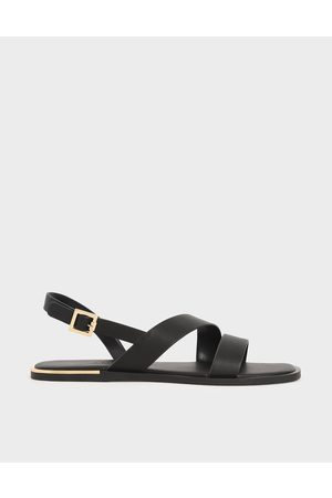 CHARLES & KEITH Asymmetric Strap Slingback Flats