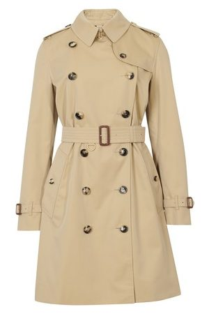 Burberry Women Trench Coats - The Mid-length Kensington Heritage Trench Coat